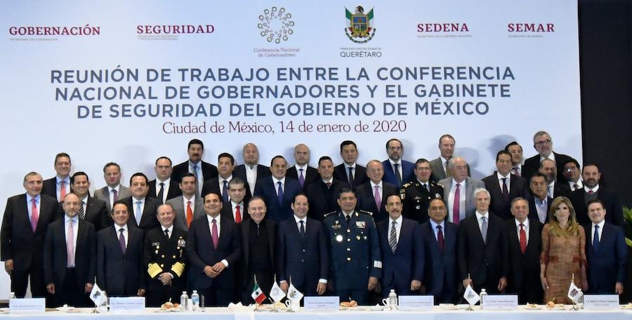 Participa Gobernadora en acuerdo de Conago y Gobierno Federal para reforzar seguridad en el país