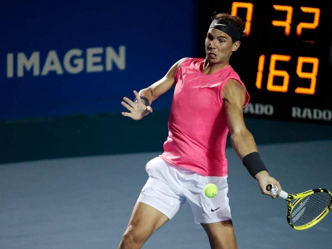 Nadal muestra músculo en el Abierto Mexicano de Tenis