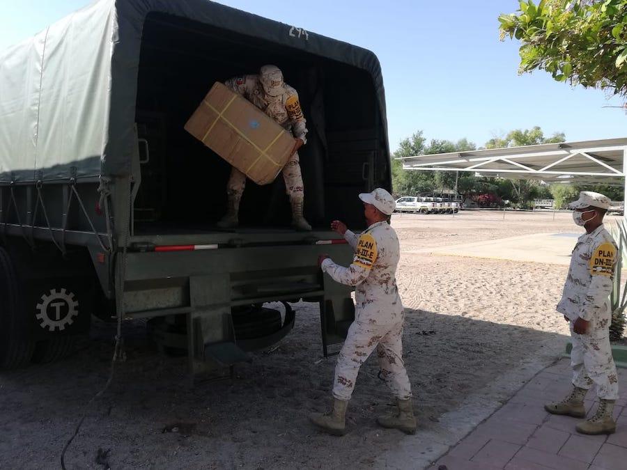 Llega otro cargamento más a Sonora para atender contingencia por Covid-19